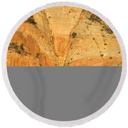 Dawn At Bridge Mountain Round Beach Towel