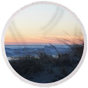 Day's Over Round Beach Towel