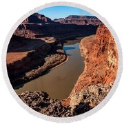 Dead Horse Point Colorado River Bend Round Beach Towel