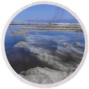 Dead Sea Landscape Round Beach Towel