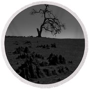 Death Of An Oak Tree Round Beach Towel
