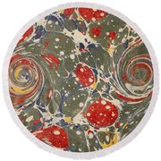Decorative Endpaper From A Nineteenth Round Beach Towel
