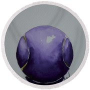 Deep Violet Round Beach Towel