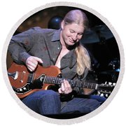Guitarist Derek Trucks Round Beach Towel