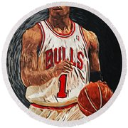Derrick Rose Round Beach Towel