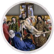 Descent From The Cross Round Beach Towel