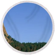 Devils Tower National Monument, Wyoming Round Beach Towel