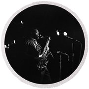 Dewey Redman Round Beach Towel
