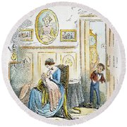 Dickens: David Copperfield Round Beach Towel