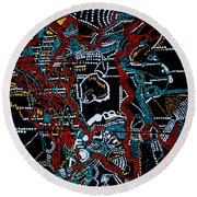 Dinka - South Sudan Round Beach Towel by Gloria Ssali