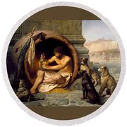 Diogenes Round Beach Towel