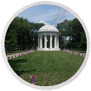District Of Columbia War Memorial Round Beach Towel