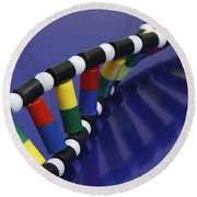 Dna Double Helix Round Beach Towel