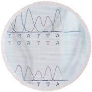 Dna Sequencing Round Beach Towel