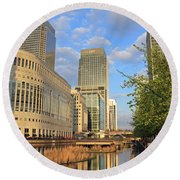 Docklands London Round Beach Towel