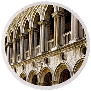 Doges Palace - Venice Italy Round Beach Towel