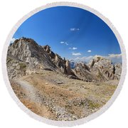 Dolomites - Costabella Ridge Round Beach Towel
