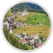 Dolomiti - Laste Village Round Beach Towel