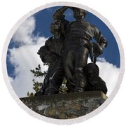 Donner Party Monument  Round Beach Towel