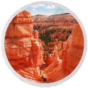 Down Into Bryce Round Beach Towel