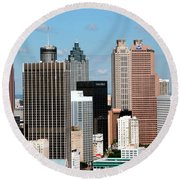 Downtown Atlanta Round Beach Towel