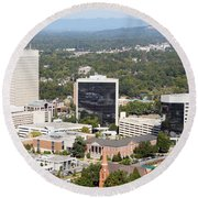Downtown Greenville Round Beach Towel