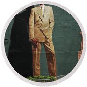 Dr. J. Round Beach Towel by Allen Beatty