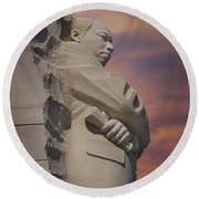 Dr. Martin Luther King Jr Memorial Round Beach Towel