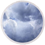 Dramatic Cloudy Sky Round Beach Towel
