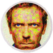 Dr. House - Maple Leaves Round Beach Towel