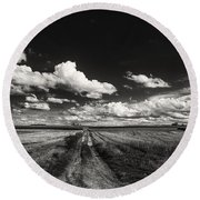 Drifting Clouds Round Beach Towel
