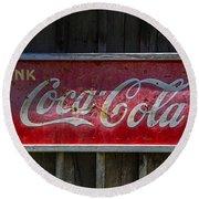 Drink Coca Cola Round Beach Towel