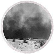 Drought Dust Storm, 1936 Round Beach Towel
