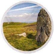 Druids Stone Circle Round Beach Towel