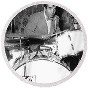 Drummer Gene Krupa Round Beach Towel