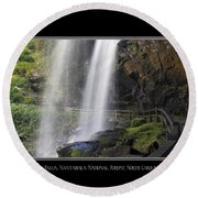 Dry Falls North Carolina Round Beach Towel