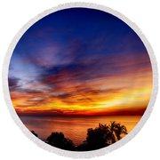 Dry Season-sunset Round Beach Towel