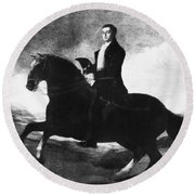 Duke Of Wellington (1769-1852) Round Beach Towel