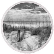 Dune Fences Round Beach Towel