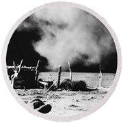Dust Bowl, 1935 Round Beach Towel