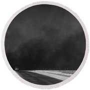 Dust Bowl, 1936 Round Beach Towel