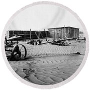 Dust Bowl, C1936 Round Beach Towel