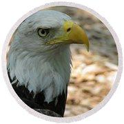 Eagle 1 Round Beach Towel