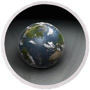 Earths Gravity Round Beach Towel