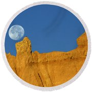 East Of The Sun West Of The Moon Round Beach Towel