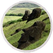 Easter Island 17 Round Beach Towel