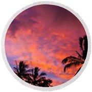 Easter Island Sunrise 2 Round Beach Towel
