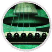 Edgy Abstract Eclectic Guitar 15 Round Beach Towel
