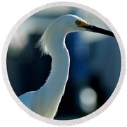 Egret Of Matlacha 2 Round Beach Towel