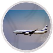 El Al Israeli Airlines Round Beach Towel